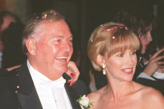 Cover stars: the late Alan Bond and Diana Bliss graced the first cover of The New Weekly in 1993.