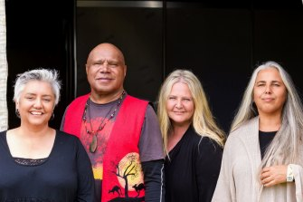 Lou Bennett, Archie Roach, Sally Dastey and Amy Saunders last year.