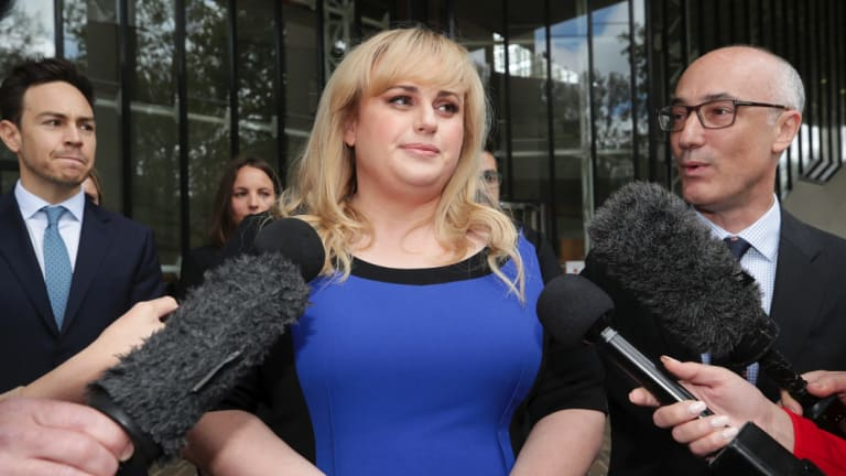 Actor Rebel Wilson departs after the High Court of Australia knocked back a bid for her appeal on her defamation case with Bauer Media to be heard.