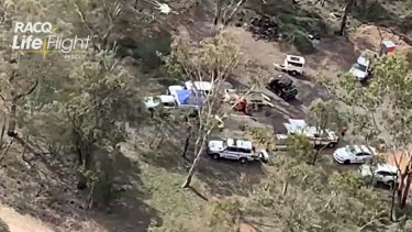Emergency services scoured the Elbow Valley area in southern Queensland on Wednesday for Mr Smith.