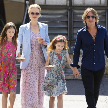 Nicole Kidman, Keith Urban and their daughters Sunday Rose and Faith Margaret, who now reside in NSW.