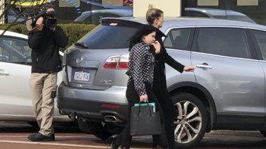 Joondalup dentist Nataliia Nairn leaves court.