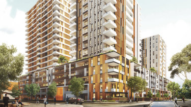 An artist's impression of Meriton's Pagewood Green.