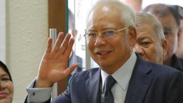 Facing trial: Najib Razak.