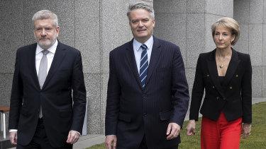 Mitch Fifield, Mathias Cormann and Michaelia Cash said Malcolm Turnbull had lost majority support.