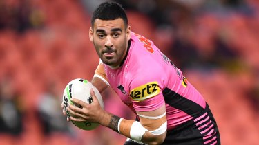 Panthers star Tyrone May has reached a settlement in the sex tape scandal.