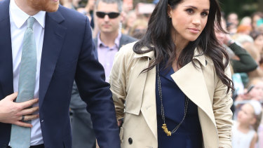 Meghan wore the pasta necklace made by Melbourne schoolboy Gavin Hazelwood.