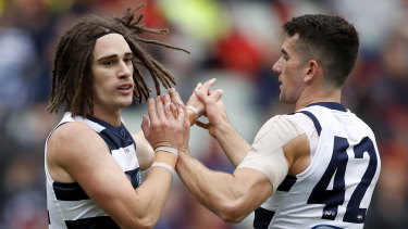 Gryan Miers (left) is set to miss the grand final rematch against Richmond, ending his run of consecutive games played.