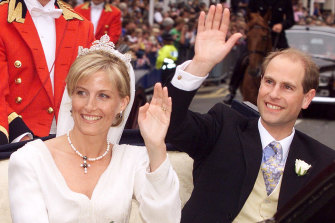 Prince Edward and Sophie Rhys-Jones were also married in St George's Chapel at Windsor Castle in 1999.