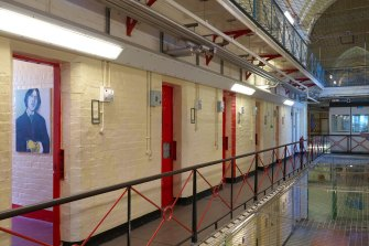 The interior of Reading Gaol, which was converted into a museum but is now up for sale.
