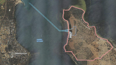 If it goes ahead, the Point Grey Marina will require the dredging of a 2.5 kilometre navigation channel across the Peel-Harvey Estuary.