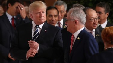 Then prime minister Malcolm Turnbull asked the US President to not impose tariffs on Australia.