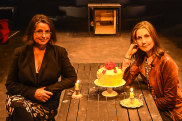 Fiona Symonds and Ella Caldwell at Red Stitch's new 'sister' venue, Cromwell Road Theatre, in South Yarra.