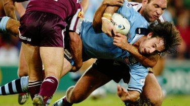Phil Bailey played three Origin games for the Blues, plus more than 100 games each for Cronulla and Wigan.