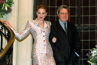 Alan Parker, pictured with Madonna in 1996.