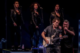 All eyes on Cold Chisel's Ian Moss (left) and Jimmy Barnes, on stage at A Day On the Green, on Saturday, January 11.