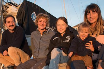 Greta posted this photo to her social media onboard the catamaran.