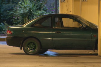 Police said the abandoned car was found in Albert Park on Thursday night, minus the number plates.