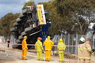 A crane has toppled at a construction site in Clyde North.