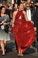 Gal Gadot at the premiere of 'Wonder Woman'.