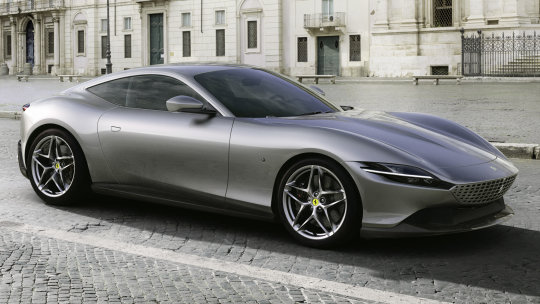 The Ferrari Roma in Italy's iconic capital.