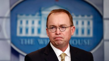 Mick Mulvaney, Trump's acting chief of staff.