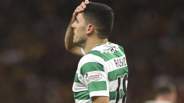 Knocked out: Tom Rogic and Celtic will not feature in the Champions League group stage.