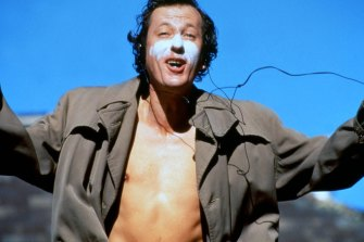 Geoffrey Rush as David Helfgott in Shine, the movie that put the actor, the writer, director Scott Hicks and many others on the map.