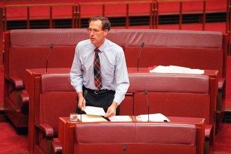 Australian Greens Party Senator in 1996.