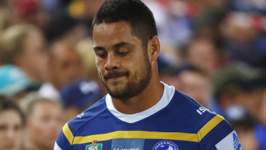 Uncertain future: Parramatta hasn't given up hope of signing Jarryd Hayne.