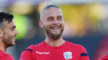 Banned: Adelaide United's Danish import Ken Ilso.