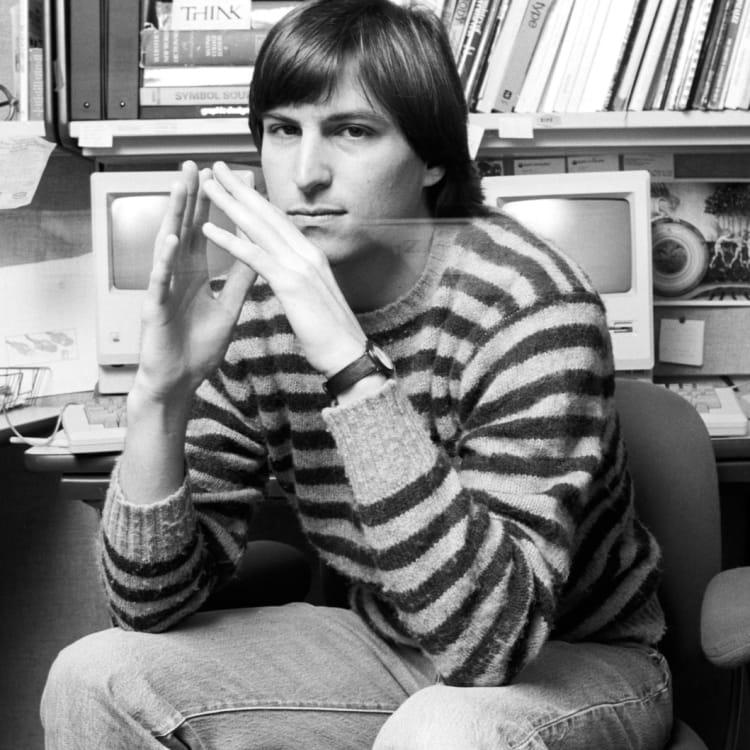 Steve Jobs in 1984.