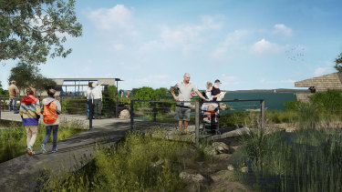Walking trails, bird hides and  a conservation zone are included in the revised plan for Toondah Harbour.