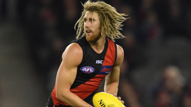 In the frame: Dyson Heppell will return for the Bombers in their round 18 clash against the Crows.