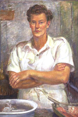 Nora Heysen's WAAAF Cook: Corporal Joan Whipp, Cairns, 1945, which hangs at the Australian War Memorial.