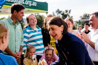 NSW Premier Gladys Berejiklian on the campaign trail earlier this month.