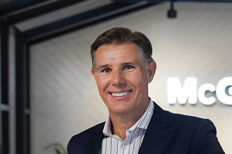McGrath chief executive Geoff Lucas at the company's Pyrmont office.