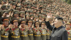 Kim Jong-un at a workshop of commanders and political officers of the Korean People's Army in July this year.