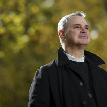 Peter Comensoli, Archbishop of Melbourne, in Fitzroy Gardens.