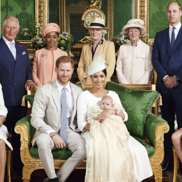 The official christening photo of Archie, the first son of Harry and Meghan.