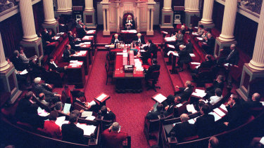A full sitting of the Victorian Parliament's upper house.