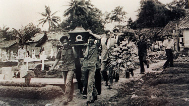 Funeral of murdered journalists in Balibo, East Timor.