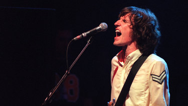 Heavy heart: You Am I's Tim Rogers performs at The Metro in 1996.