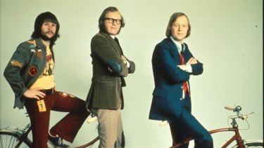 Bill Oddie, Graeme Garden and Tim Brooke-Taylor as The Goodies