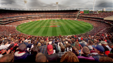 A packed house saw Essendon and Collingwood draw in 1995, the match that kick-started a modern Anzac Day football tradition.