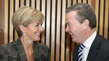 Former Coalition ministers Julie Bishop and Christopher Pyne face questions about the propriety of new job opportunities.