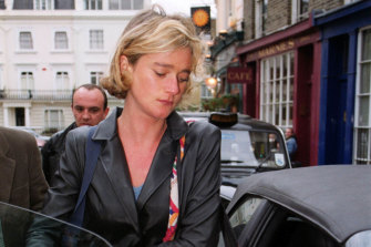 A younger Delphine Boel in London in 1999 where she has lived for more than 20 years.