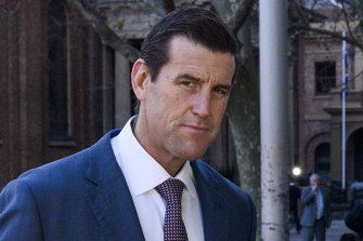 Ben Roberts-Smith outside the Federal Court in Sydney, which delayed his defamation case due to COVID-induced border restrictions.