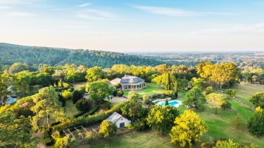 The Fernhill estate in Mulgoa includes 385 hectares of land and an 1845 sandstone homestead.