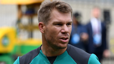 Cricketer David Warner.